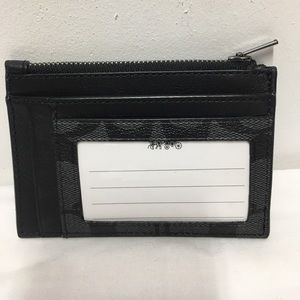 Coach Men's Black Multi Card Slim Wallet